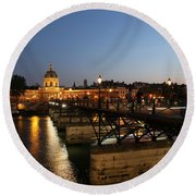 Round Beach Towel featuring the photograph Institute Of France by Andrew Fare