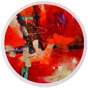 Intensity - Art By Elise Palmigiani Round Beach Towel by Elise Palmigiani