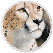 Intensity - Cheetah Round Beach Towel