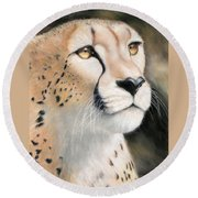 Intensity - Cheetah Round Beach Towel