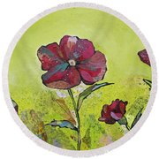 Intensity Of The Poppy II Round Beach Towel