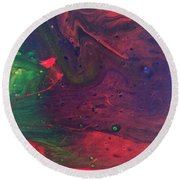 Round Beach Towel featuring the painting Intergalactic  by Robbie Masso