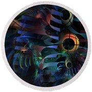 Round Beach Towel featuring the digital art Interlude 1536 - Fractal Art by NirvanaBlues