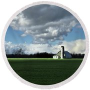 Round Beach Towel featuring the photograph Interlude by Robert Geary
