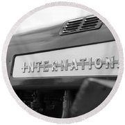 Round Beach Towel featuring the photograph International 350 by Rick Morgan