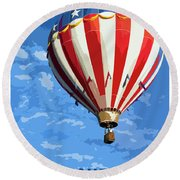 International Balloon Fiesta Round Beach Towel
