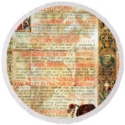 International Code Of Medical Ethics Round Beach Towel