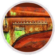 International Mcintosh  Horz Round Beach Towel by Jeffrey Jensen