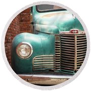 Round Beach Towel featuring the photograph International Truck 2 by Heidi Hermes