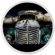 Round Beach Towel featuring the photograph International Truck 6 by Michael Arend