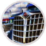 International Trucks 1 Round Beach Towel