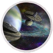 Interstellar Round Beach Towel