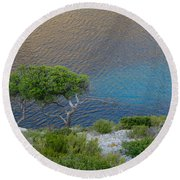 Intertwined Round Beach Towel