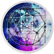 Round Beach Towel featuring the digital art Intertwined  by Bee-Bee Deigner