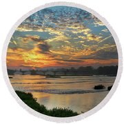 Interurban Sunrise 4193 Round Beach Towel