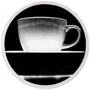 Intimidating Cup Of Coffee Round Beach Towel