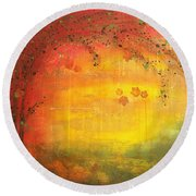 Into Fall - Tree Series Round Beach Towel