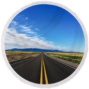 Into Forever Round Beach Towel