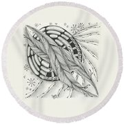 Into Orbit Round Beach Towel