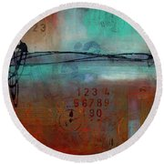 Into Retrospection Round Beach Towel