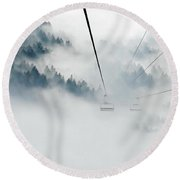 Into The Abyss Round Beach Towel