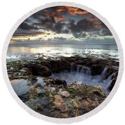 Into The Abyss Round Beach Towel by James Roemmling