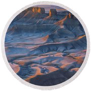 Into The Badlands Round Beach Towel by Dustin  LeFevre