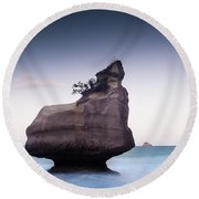 Into The Blue Round Beach Towel by Alex Conu