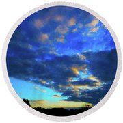 Into The Blue Round Beach Towel by Mark Blauhoefer
