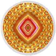 Round Beach Towel featuring the digital art Into The Centre - Vertical by Wendy Wilton