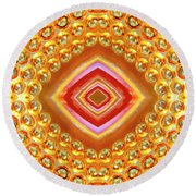 Round Beach Towel featuring the digital art Into The Centre - Horizontal by Wendy Wilton
