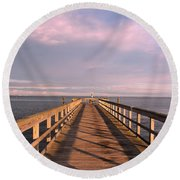 Into The Clouds Round Beach Towel by Karen Silvestri