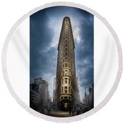 Round Beach Towel featuring the photograph Into The Clouds by Marvin Spates
