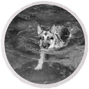 Into The Cold Round Beach Towel