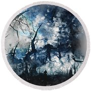 Into The Darkness - 01 Round Beach Towel