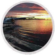 Into The Dawn Round Beach Towel