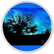 Into The Dream  Round Beach Towel
