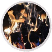 Into The Fire Round Beach Towel