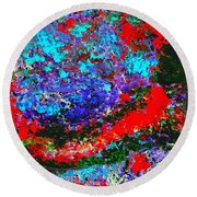 Into The Forest Of Midnight Round Beach Towel