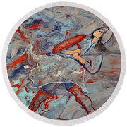 Into The Fray Round Beach Towel
