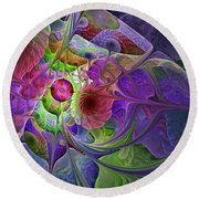 Into The Imaginarium  Round Beach Towel