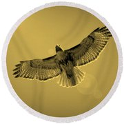 Into The Light - Sepia Round Beach Towel by Carol Groenen