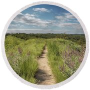 Into The Loess Hills Round Beach Towel