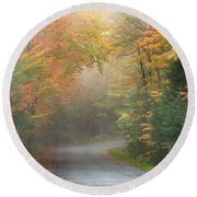 Into The Mist Round Beach Towel