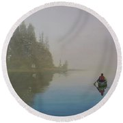 Into The Mistic Round Beach Towel