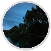 Round Beach Towel featuring the photograph Into The Night by Davor Zerjav