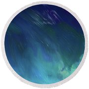 Into The Night Round Beach Towel by Karen Nicholson