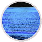 Into The Ocean Void Round Beach Towel