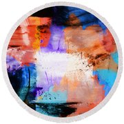 Round Beach Towel featuring the painting Into The Open by Dan Sproul