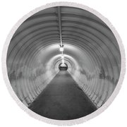 Round Beach Towel featuring the photograph Into The Tunnel by Juli Scalzi